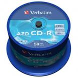Диск CD Verbatim 700Mb 52x Cake box 50 Crystal Фото