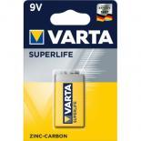 Батарейка Varta 6F22 Superlife Zinc-Carbon Фото