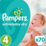Подгузник Pampers Active Baby-Dry Maxi (8-14 кг), 70шт Фото