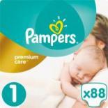 Подгузник Pampers Premium Care New Born Размер 1 (2-5 кг), 88 шт Фото