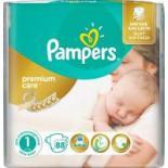 Подгузник Pampers Premium Care New Born Размер 1 (2-5 кг), 88 шт Фото 1