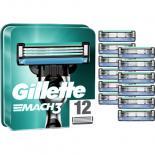 Сменные кассеты Gillette Mach 3 12 шт Фото