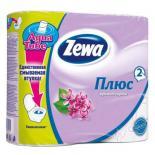 Туалетная бумага Zewa Plus 2-слойная Сирень 4 шт Фото