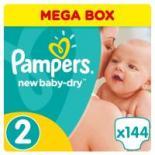 Подгузник Pampers New Baby-Dry Mini Размер 2 (3-6 кг), 144 шт Фото