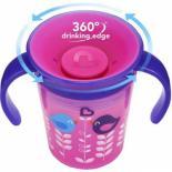 Поильник-непроливайка Munchkin Miracle 360 Deco 177мл (розовая с фиолетовой крышк Фото 1