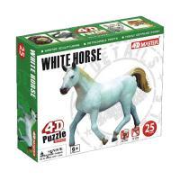 Пазл 4D Master Белая лошадь Фото