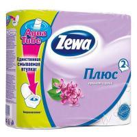 Туалетний папір Zewa Plus 2-слойная Сирень 4 шт Фото