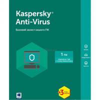 Антивирус Kaspersky Anti-Virus 2017 1 ПК 1 год + 3 мес Base Box Фото