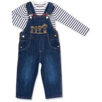 Набор детской одежды Aziz комбинезон синий джинсовый с регланом Фото