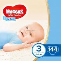 Подгузник Huggies Ultra Comfort 3 Box для мальчиков (5-9 кг) 144 шт Фото