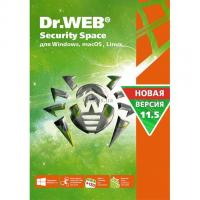 Антивирус Dr. Web Security Space, 2 ПК 1 год карт. конверт Фото