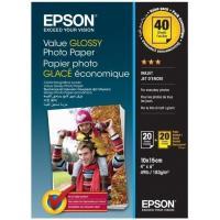 Папір Epson 10x15mm Value Glossy Photo Paper 2х20 л. Фото