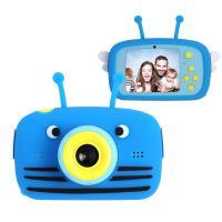 Інтерактивна іграшка XoKo Bee Dual Lens Цифровой детский фотоаппарат голубой Фото