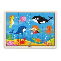 Пазл Viga Toys Морські мешканці, 16 елементів Фото