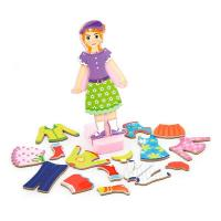 Ігровий набір Viga Toys Гардероб девочки на магнитах Фото