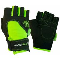 Перчатки для фитнеса PowerPlay 1728 XS Black/Green Фото