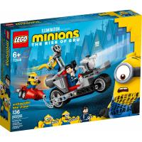 Конструктор LEGO Minions Невероятная погоня на мотоцикле 136 детале Фото
