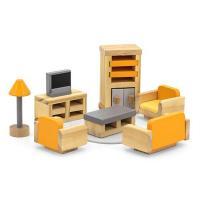 Игровой набор Viga Toys Деревянная мебель для кукол PolarB Гостиная Фото
