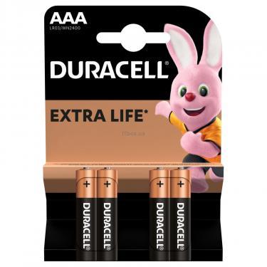 Батарейка Duracell AAA MN2400 LR03 * 4 (5000394052543 / 81545421) - фото 2