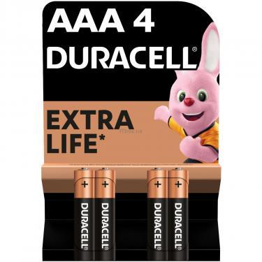 Батарейка Duracell AAA MN2400 LR03 * 4 (5000394052543 / 81545421) - фото 1