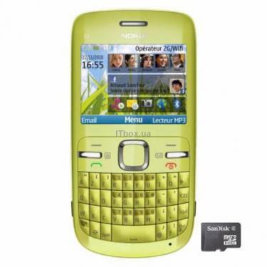 Мобильный телефон C3-00 Lime Green Nokia (2) - фото 1