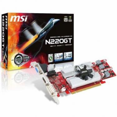 Видеокарта GeForce GT220 1024Mb MSI (N220GT-MD1GD3/LP) - фото 1