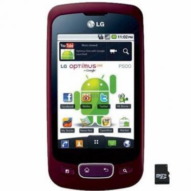 Мобільний телефон P500 (Optimus One) Metallic Wine LG (P500 MZ) - фото 1