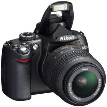 Цифровой фотоаппарат D5000 kit AF-S DX 18-55mm VR Nikon (VBA240K001) - фото 1