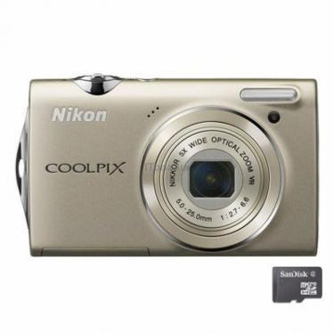 Цифровий фотоапарат Coolpix S5100 silver Nikon (VMA640E1) - фото 1