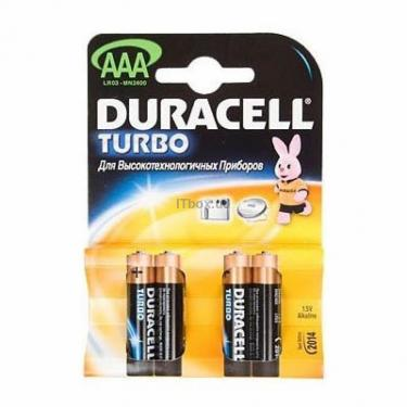 Батарейка TURBO AAA MN2400 LR3 * 4 Duracell (LR3TURBO (4)/81255917) - фото 1