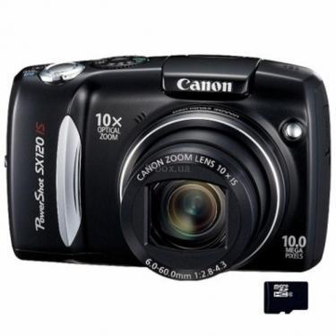 Цифровой фотоаппарат PowerShot SX120 is Canon (3634B002) - фото 1