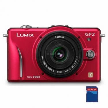 Цифровой фотоаппарат Lumix DMC-GF2 14-45mm kit red Panasonic (DMC-GF2KEE-R) - фото 1