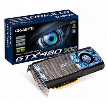 Відеокарта GeForce GTX480 1536Mb GIGABYTE (GV-N480D5-15I-B) - фото 1