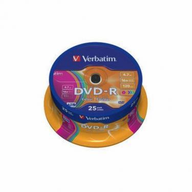 Диск DVD Verbatim 4.7Gb 16X Spindle Wrap box 25шт (43730) - фото 1