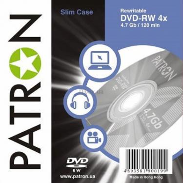 Диск DVD Patron 4.7Gb 4x Slim box 10шт (INS-D030) - фото 1