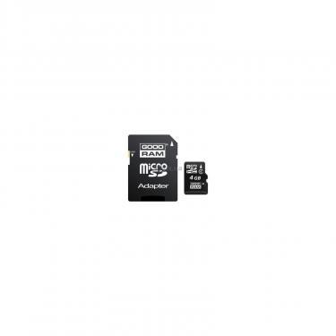 Карта пам'яті GOODRAM 4Gb microSDHC class 4 (SDU4GHCAGRR10 / SDU4GHCAGRR9) - фото 1