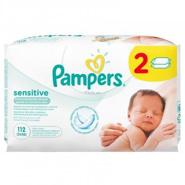 Влажные салфетки Pampers Sensitive, 112 шт (4015400636670) - фото 2