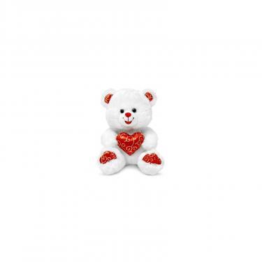 Мягкая игрушка Lava Медведь белый блестящий с сердцем 20 см Фото
