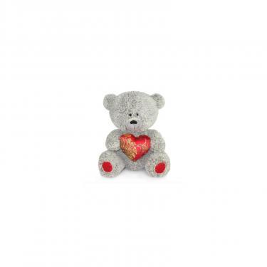 Мягкая игрушка Lava Медвежонок с парчовым сердцем 21 см Фото
