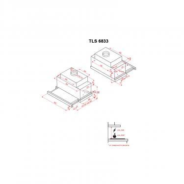 Вытяжка кухонная Perfelli TLS 6833 W LED STRIPE Фото 8