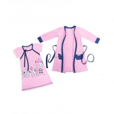 "Піжама Matilda і халат з ведмедиками ""Love"" (7445-122G-pink) - фото 1"