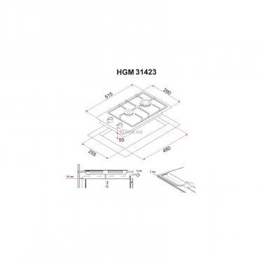 Варочная поверхность Perfelli HGM 31423 WH Фото 4