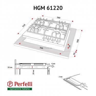Варочная поверхность Perfelli HGM 61220 WH Фото 9