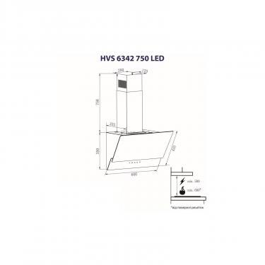 Вытяжка кухонная Minola HVS 6342 BL 750 LED Фото 6