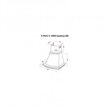 Вытяжка кухонная Perfelli K 9622 C IV 1000 COUNTRY LED Фото 10