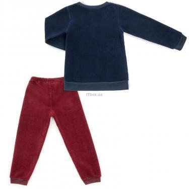 """Пижама Matilda флисовая """"FOOTBALL ACADEMY"""" (7536-3-122B-blue) - фото 4"""