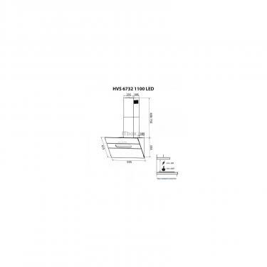Вытяжка кухонная Minola HVS 6732 BL 1100 LED Фото 11