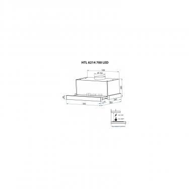 Витяжка кухонна Minola HTL 6214 WH 700 LED - фото 12