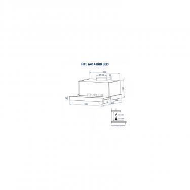 Вытяжка кухонная Minola HTL 6414 I 800 LED Фото 8