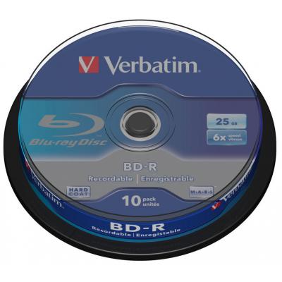 Диск BD-R Verbatim 25Gb 6x Cacke 10шт (43742)